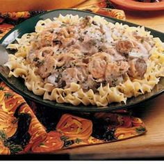 Tangy Beef Stroganoff. This was in the 1998 Taste of Home cookbook and I have made it many times. Everyone I serve it to says it is the best beef stroganoff they have ever had. I use fresh squeezed lemon.