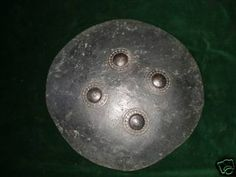 Rajput Leather Shield - This old leather/hide shield is from a region in Northern India.