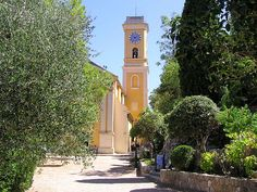 beautiful and peaceful church built in 1764 in the perched village of Eze, French Riviera