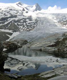 Der Gletscher Schlatenkees, Nationalpark Hohe Tauern