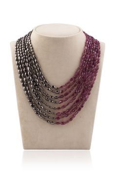 tourmalines and silver beads