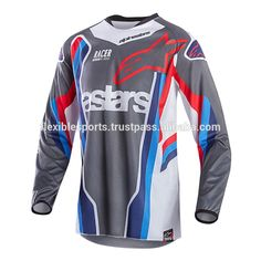 Sublimation design your own 6xl motocross jersey using ink sublimation for the colors would be printed