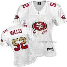 http://www.yjersey.com/san-francisco-49ers-52-willis-white-womens-jerseys.html SAN FRANCISCO 49ERS 52 WILLIS WHITE WOMENS JERSEYS Only 34.00€ , Free Shipping!
