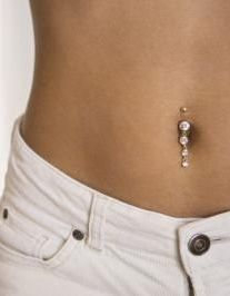 Belly button piercing.