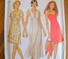 NEW LOOK SEWING PATTERN - 6500 - MISSES 6-16 SLIP DRESS W/BOLERO JACKET