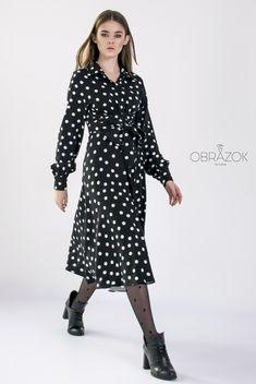 Amazing dress SS2020  #polkadot #midi #cotton #newcollection #ss2020 #fashion #style #мода #тренд2020 #миди #платье #широкийманжет #принт #натуральнаяткань #онлайншопинг #женскаяодежда Dresses With Sleeves, Photo And Video, Long Sleeve, Amazing, Vintage, Instagram, Style, Fashion, Gowns With Sleeves