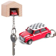 The Design Gift Shop - CORPUS DELICTI   Mini Cooper Keyring Red Mini Cooper, Key Rings, Baby Items, Diecast, Dream Cars, Garage, Wood, Green, Shopping