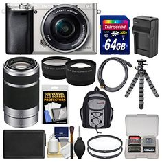 SONY A6000 KIT INCLUDES 13 PRODUCTS — All BRAND NEW Items with all Manufacturer-supplied Accessories + Full USA Warranties: [1] Sony Alpha A6000 Wi-Fi Digital Camera & 16-50mm Lens + [2] Transcend 64GB SDXC 300x Card + [3] Spare NP-FW50 Battery + [4] Battery Charger + [5] PD-C15 Camera / Camcorder Case + [6] PD 50″ Compact Travel Tripod +