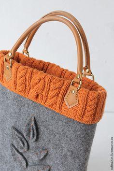 Knitted bags - Pin by Nursel Çayoğlu on Keçe – Knitted bags Sacs Tote Bags, Bag Pins, Felt Purse, Felt Bags, O Bag, Handmade Purses, Fabric Bags, Knitted Bags, Beautiful Bags