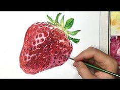 realistic Watercolor | How to paint a Strawberry - YouTube
