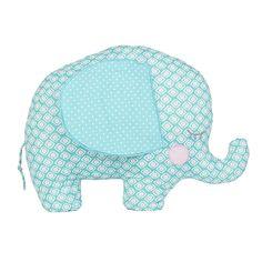 https://www.sassandbelle.co.uk/Elliot Elephant Shaped Cushion Blue