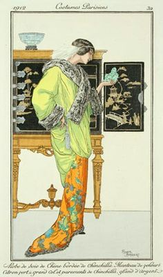 George Barbier Love the Chinoiserie in the background. The detail on Barbier's artwork is fabulous.