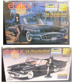 ELVIRA : 58 THUNDERBIRD CAR & ELVIRA FIGURE MODEL KIT SET