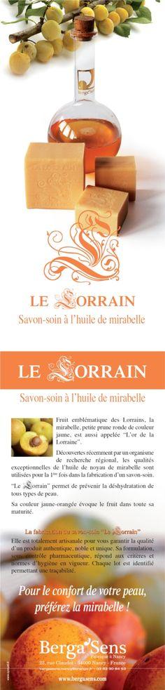 Le Lorrain, un savon-soin à l'huile de mirabelle en provenance de #Nancy
