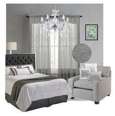 """Bedroom in grey 💕"" by lisacolzani on Polyvore featuring interior, interiors, interior design, Casa, home decor, interior decorating, L.L.Bean e bedroom"