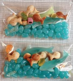 Under the Sea party favors. Can use for Octonauts birthday party Little Mermaid Birthday, Little Mermaid Parties, The Little Mermaid Story, Diy Mermaid Birthday Party, Octonauts Party, 3rd Birthday Parties, Birthday Ideas, 2nd Birthday, Moana Birthday Party Ideas