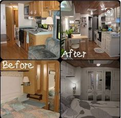 25 Best And Low-Cost Small RV Remodel Ideas With Before And After Pictures - DEXORATE Time is running fast. Summer, fall, winter, spring and then come back again in the pleasant holiday season, summer vacation. More fun holidays driving a home car or RV … Kombi Motorhome, Rv Campers, Small Campers, Rv Redo, Travel Trailer Remodel, How To Remodel A Camper, Trailer Diy, Trailer Decor, Small Rv
