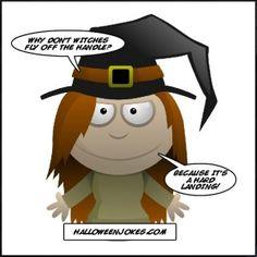 Cartoon Witch Joke For Halloween Kids