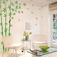 Removable Green Bamboo Tree Room Art Mural Vinyl Wall Sticker Home Decor Decals
