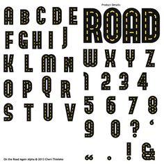 On The Road Again Alpha Designed By Cheri Thieleke Scrap Girls LLC Digital