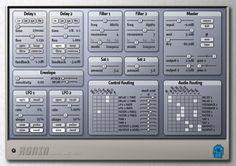 My Audio Damage Ronin - filter, lfo, delay, saturator