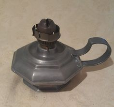 Italian Pewter Tone Metal Oil Lamp | Collectibles, Lamps, Lighting, Lamps: Non-Electric | eBay!