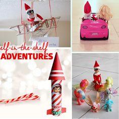 Elf-on-the-Shelf Ideas. Can't wait for christmas!