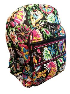Disney Vera Bradley Campus Backpack - Midnight With Mickey - Black