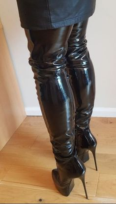 (notitle) - Boots and Heels - Jupe Thigh High Boots Heels, Stiletto Boots, Hot High Heels, Heeled Boots, High Leather Boots, Leather Heels, Crotch Boots, Long Boots, Sexy Boots