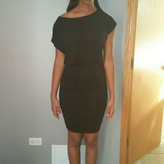 Black sexy cocktail dress NWOT Very sexy and cute for a day party to nite, say xs on tag but can fit up to a medium. Tart Dresses