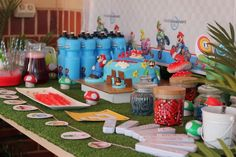 "super mario birthday party ideas | Birthday ""Mario Wii Party"" 