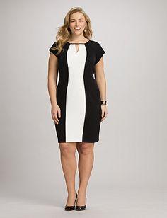 Plus Size Two-Tone Colorblock Dress   Dressbarn