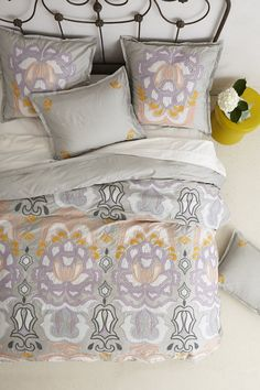Safia Embroidered Duvet | Anthropologie