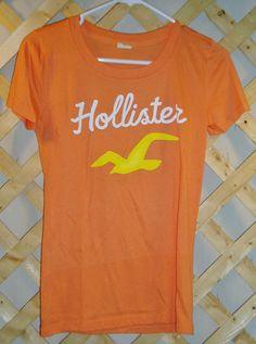 Orange T-Shirt - Hollister - Junior Girls Size M