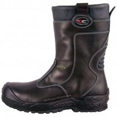 6198e5a4b38 Cofra Gullveig Black Slip On Safety / Work Gore-Tex Leather Mens Rigger  Boots Riding