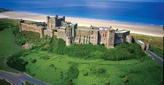 Bamburgh Castle, Northumberland, England with from JDzigner… Architecture Old, Beautiful Architecture, Palaces, Beautiful Castles, Beautiful Places, Kingdom Of Northumbria, Places To Travel, Places To See, Photo Chateau