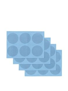 47% OFF Winkler Set of 4 Rounds Jacquard Placemats (Blue)