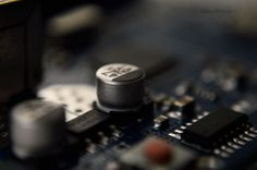 Capacitor on a motherboard
