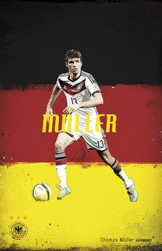 World Cup 2014 by Cristina Martinez, via Behance Germany Muller