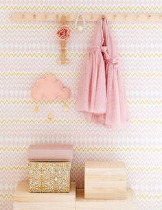 Tomoko in Pink & Yellow Non-Woven Wallpaper (paste the wall) Washable & Eco-Friendly Roll Size: x Repeat: cm Wallpaper Paste, Kids Wallpaper, Wallpaper Designs, Pastel Walls, Rose Pastel, Bathroom Layout, Basic Colors, Pink Yellow, Girl Room