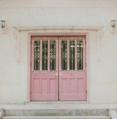 chic, delicate, door, home sweet home, house, pink