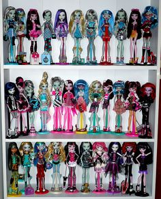 Monster High Doll Collection, via Flickr.
