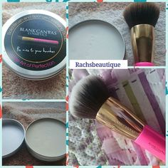 Love this @blankcanvascosmetics new brushes soap. It leaves brushes like new. Moisten the soap with water.  Rub the brush bristles (head only) over the soap and lather.  Rinse the brush bristles in lukewarm water until it runs clear.  ALWAYS avoid getting the metal part and handle wet.  Be careful not to leave soap residue in the centre of a densely packed brush.  Reshape your brush and lay at to dry. Wipe the soap of any suds or residue.  Natural soap for washing sponges and brushes only…