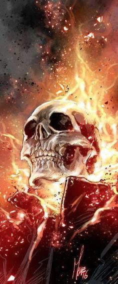 Ghost Rider by Marco Checchetto Ghost Rider Johnny Blaze, Ghost Rider Marvel, Marvel Art, Marvel Dc Comics, Punisher Marvel, Comic Books Art, Comic Art, Silver Surfer, Hero Arts