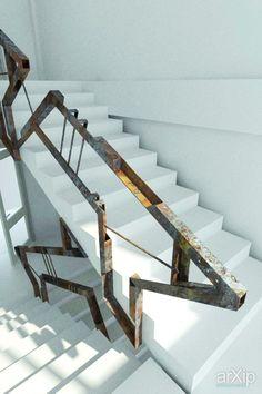 Лестничный марш: интерьер, промышленный дизайн, офис, администрация, современный, модернизм, лестница, лестничная клетка, 10 - 20 м2, лестница, модернизм, ограждение #interiordesign #industrialdesign #office #administration #modern #stairsstairwell #10_20m2 #stairs #modernism #fence #fencing #enclosure #guard #protection #inclosure arXip.com