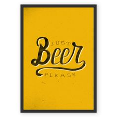 Poster Just beer, please de @koning | Colab55