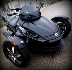 2009 Can Am Spyder Phantom Edition Trike SM5. If Batman had a motorcycle, it would be this one