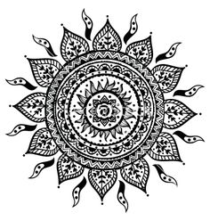 Beautiful indian ornament vector 1237760 - by transia on VectorStock®