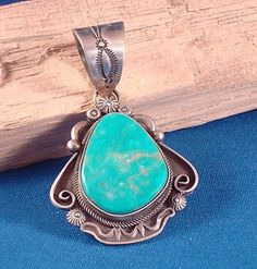 Native American Turquoise Jewelry | Native American Navajo Indian Jewelry Turquoise Pendant Ronald Tom ...