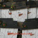 Scrap Wood Snowman